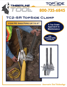 squeeze off, pe pipe squeeze, pipe squeeze, timberline tools, tc2sr, tc2-sr, topside clamp, keyhole clamp