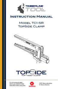 tc1sr, tc1-sr, tc1sr manual, manual download, timberline, squeeze tool, topside clamp, gas clamp, gas line