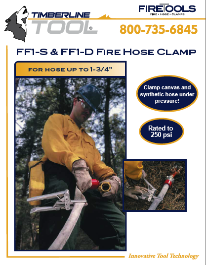 ff1s, ff1-s, ff1s literature, ff1s download, spec sheet, literature, timberline tool, fire tool, fire tools, fire hose clamp, fire clamp