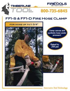 ff1d, ff1-d, timberline ff1d, timberline tools, fire hose clamp, ff1d fire hose, fire fighting clamp, hose clamp, timberline fire clamp