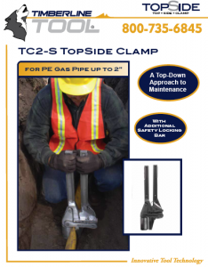 gas clamp, squeeze off, tc2s, tc2-s, timberline tool, squeeze tool, gas tool, pe pipe squeeze