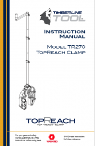 tr270, timberline manuals, timberline tool, tr270 clamp, squeeze off, squeeze tool, gas clamp