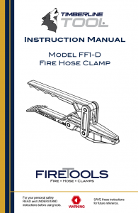 ff1d, ff1-d, fire hose clamp, timberline tool clamps, fire hose, timberline tools, canvas fire clamp, fire clamp