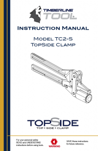 tc2s, tc2-s, topside clamp, gas clamp, pe pipe squeeze, squeeze off, timberline tool, timberline tools, squeeze tool, topside clamp
