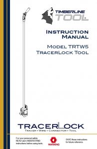 trtw5 manual, trtw5 literature, trtw5 tool, timberline tool, tracer wire, tracer lock, tracerlock, tracer wire connector