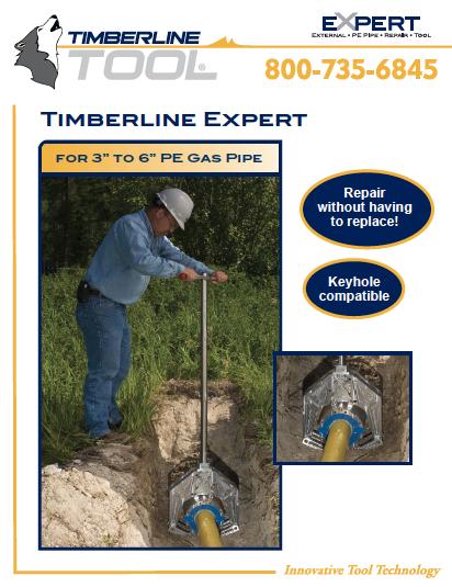 expert literature, expert tool, expert timberline, timberline tool, squeeze tool, gas repair tool, pe pipe repair, gas repair, gas technology