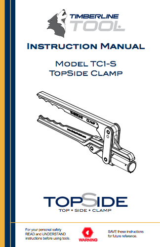 tc1s, tc1-s, tc1-s manual, timberline tool, squeeze tool, squeeze tools, gas clamp, gas clamps, pe pipe clamp, pe pipe squeeze